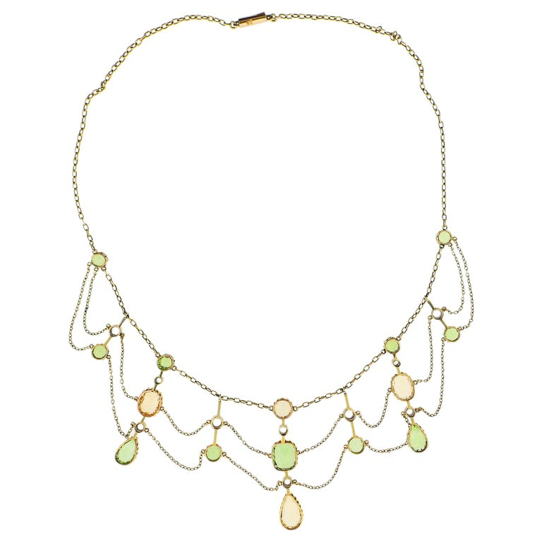 Peridotcollier peridot necklace necklace with Peridot Beautiful necklace of faceted peridot stones Peridot Collier Peridot necklace