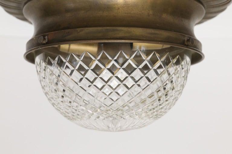 Antique Classic French Repoussé Flush Mount Light For Sale 1