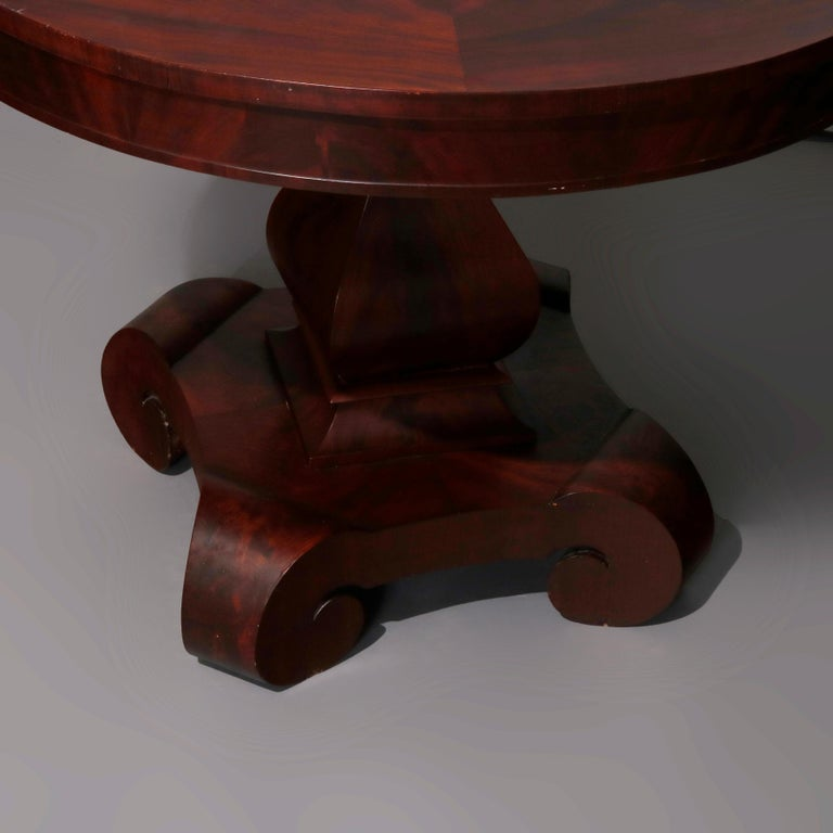 Antique Classical American Empire Flame Mahogany Center Table Attributed Meeks For Sale 5
