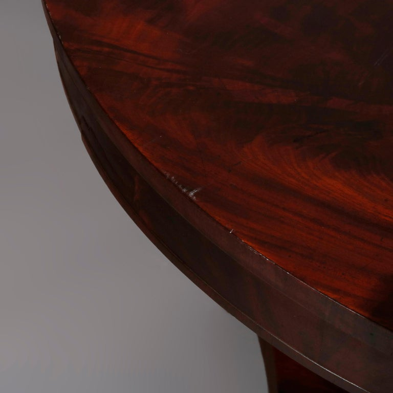 Antique Classical American Empire Flame Mahogany Center Table Attributed Meeks For Sale 6