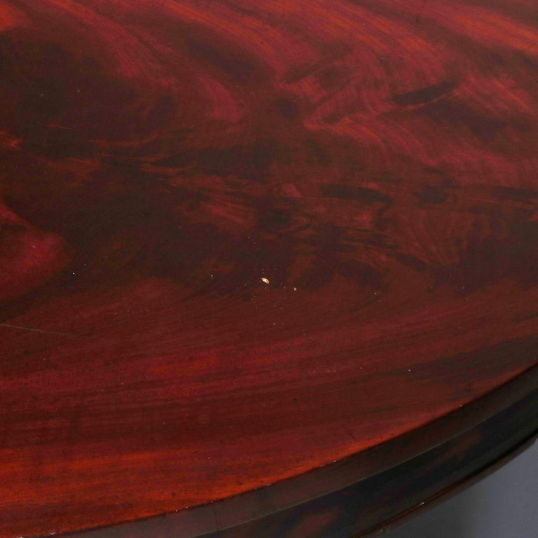 Antique Classical American Empire Flame Mahogany Center Table Attributed Meeks For Sale 8