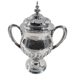 Antique Classical Covered Urn Trophy Cup by New York Maker