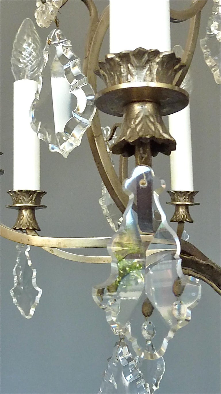 Antique Classical Eight-Light Crystal Glass Chandelier Vienna, circa 1910-1920 For Sale 5