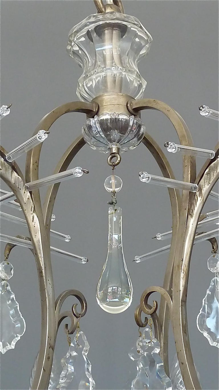 Antique Classical Eight-Light Crystal Glass Chandelier Vienna, circa 1910-1920 For Sale 9