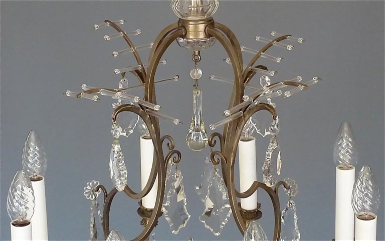 Antique Classical Eight-Light Crystal Glass Chandelier Vienna, circa 1910-1920 For Sale 10