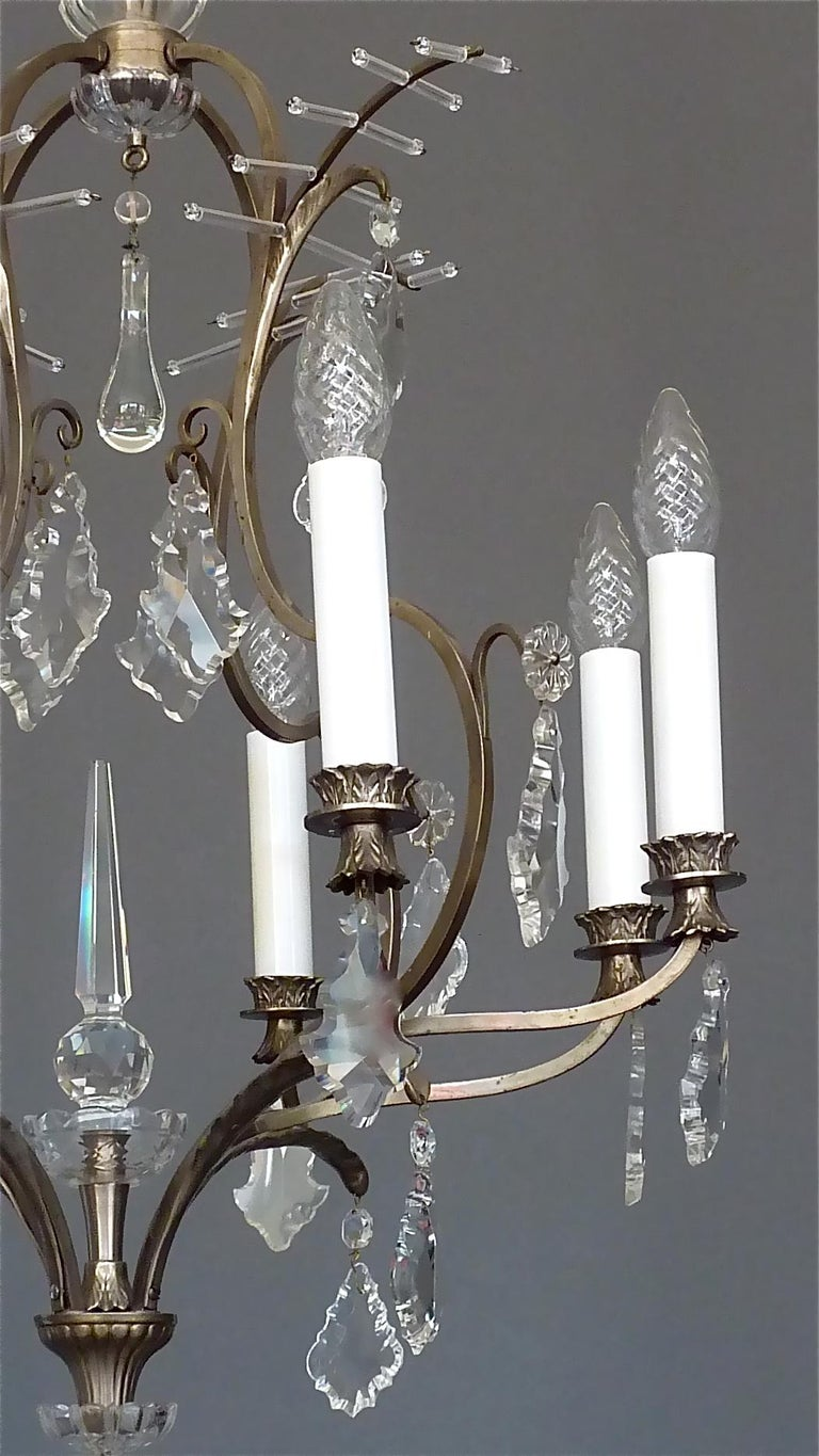Antique Classical Eight-Light Crystal Glass Chandelier Vienna, circa 1910-1920 For Sale 1