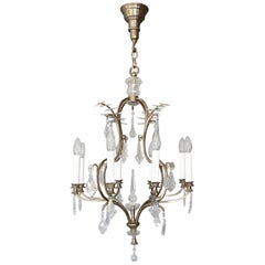 Antique Classical Eight-Light Crystal Glass Chandelier Vienna, circa 1910-1920