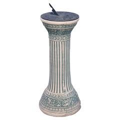 Antique Classical Weller School Pottery Sundial, Circa 1920