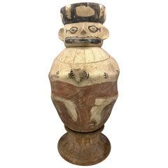 Antique Clay Urn Vessel Chancay Peru