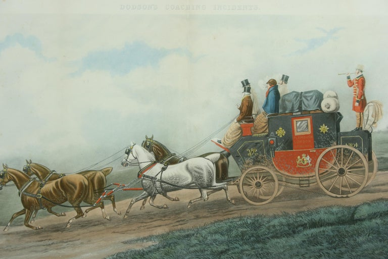 Sporting Art Antique Coaching Print 'Three Minutes to Spare'