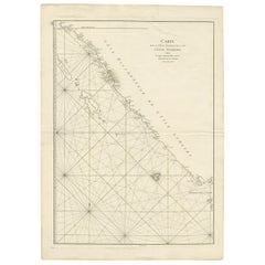 Antique Coastal Map of Sumatra by De La Haye, circa 1780