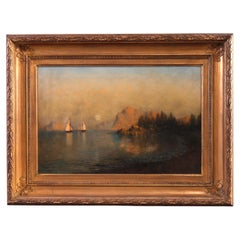 Antique Coastal Oil on Canvas Painting by John Olsen Hammerstad, Circa 1900