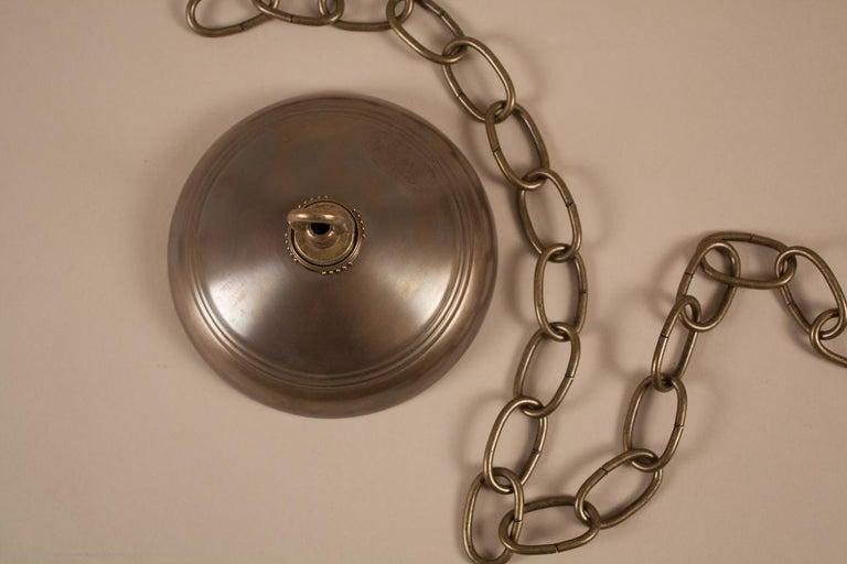 Antique Cobalt Blue Bell Jar Lantern For Sale 4