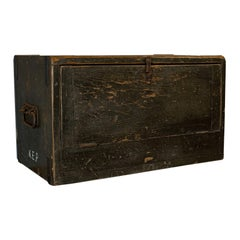 Antique Cobbler's Chest, Pine, Tool Trunk, Coffee Table, Victorian, circa 1900