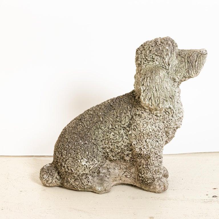 British Antique Cocker Spaniel Dog Garden Ornament For Sale