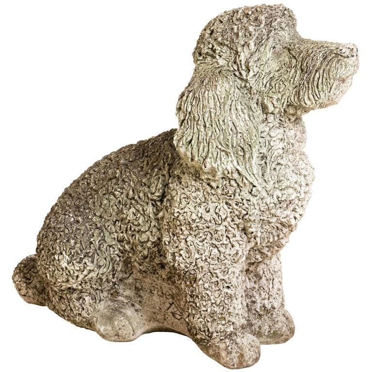 Antique Cocker Spaniel Dog Garden Ornament For Sale