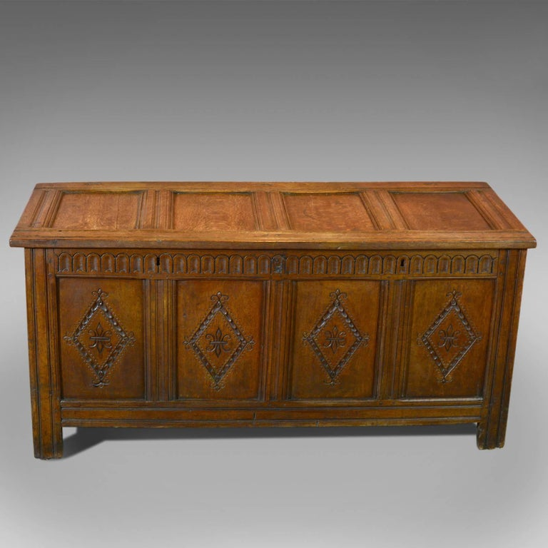 This is an antique coffer from the reign of Charles II dating to circa 1680.
