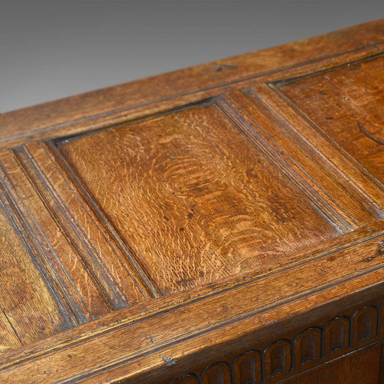 Antique Coffer, Charles II Chest, circa 1680 In Good Condition For Sale In Hele, Devon, GB