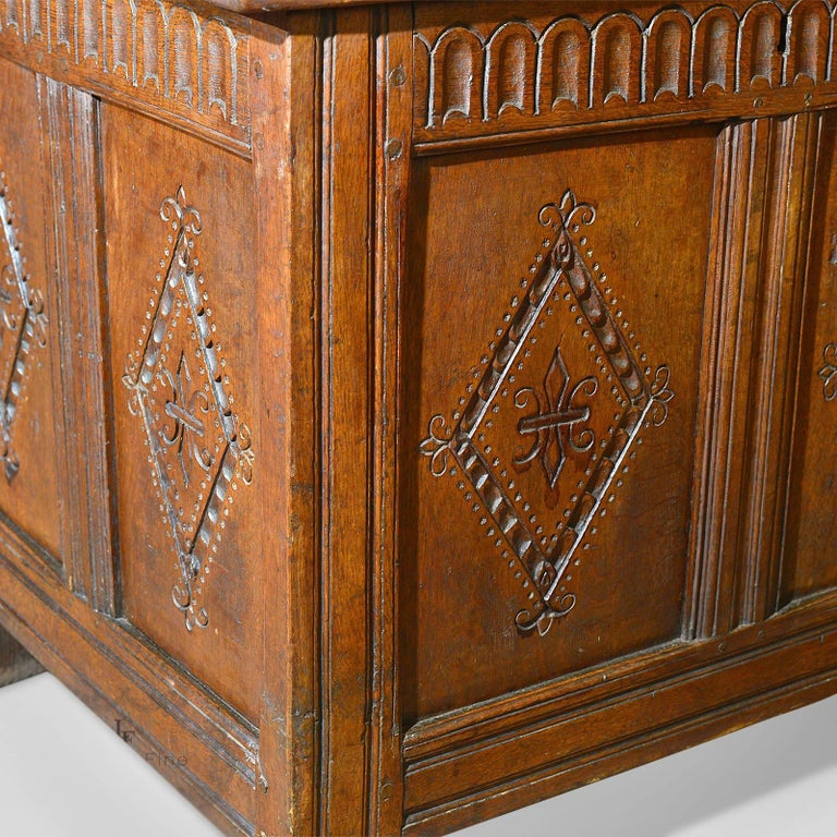 Antique Coffer, Charles II Chest, circa 1680 For Sale 1
