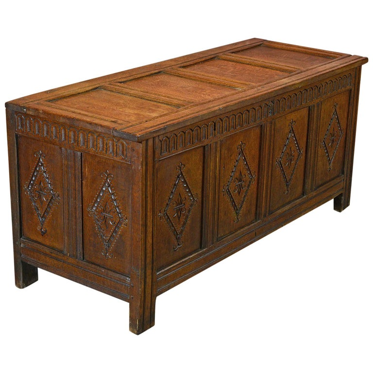 Antique Coffer, Charles II Chest, circa 1680 For Sale