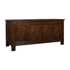 Antique Coffer, Charles II Chest, circa 1680