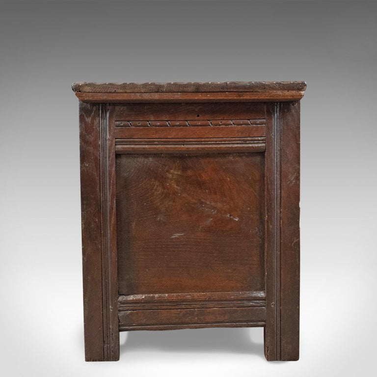 Charles II Antique Coffer, English, Oak, Joined Chest, Trunk, Late 17th Century, circa 1700 For Sale