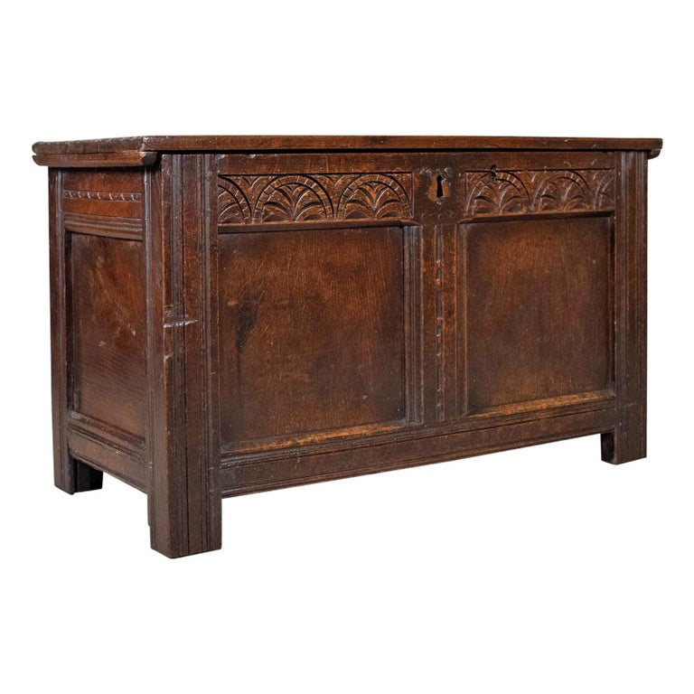 Antique Coffer, English, Oak, Joined Chest, Trunk, Late 17th Century, circa 1700 For Sale