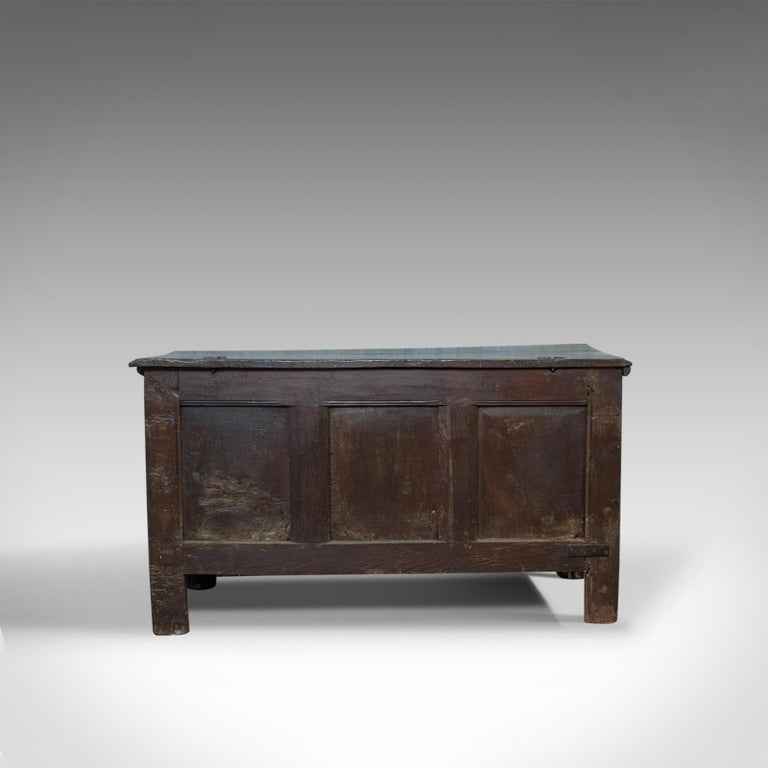 Antique Coffer, Large, English Oak, Joined Chest, Charles II Trunk, circa 1685 For Sale 1