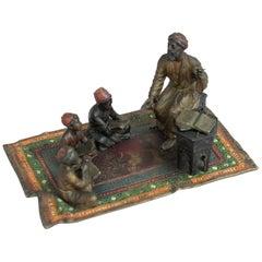 Antique Cold Painted Vienna Bronze Group, Teacher & Pupils, circa 1900