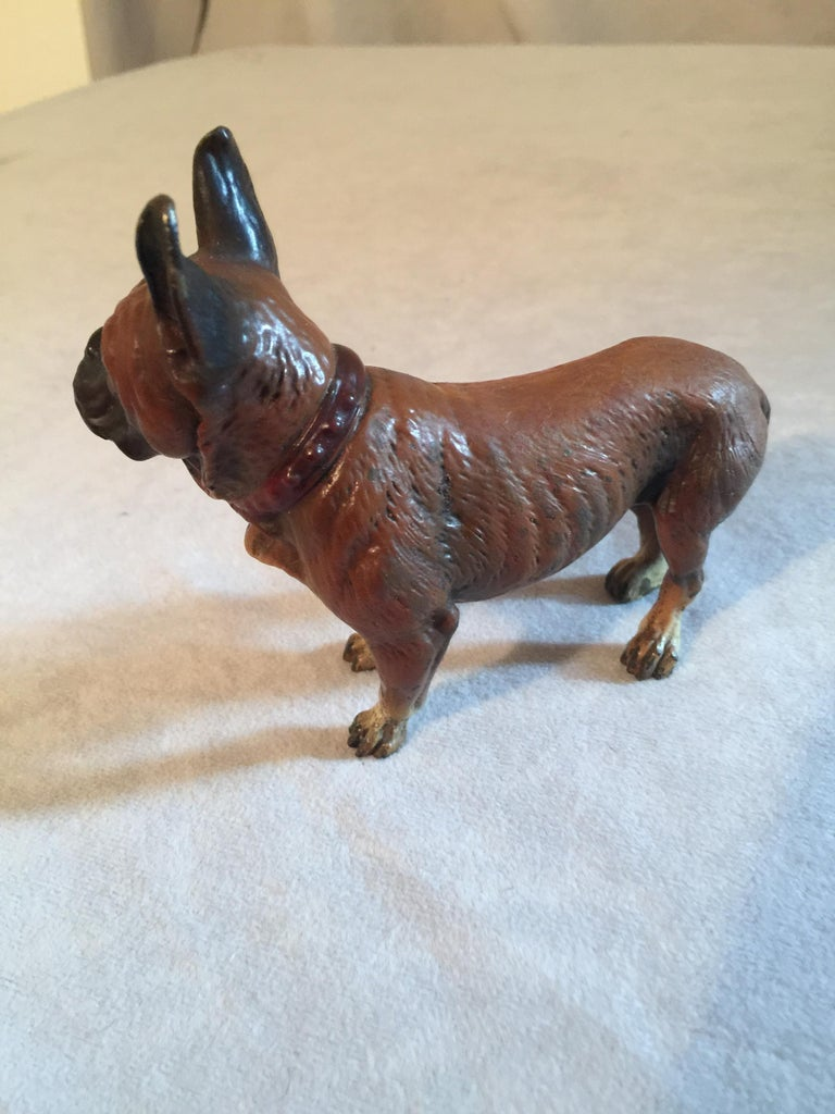 Other Antique Cold Painted Vienna French Bulldog, Bergman Style For Sale