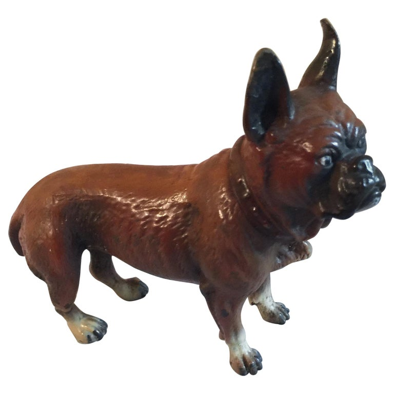 Antique Cold Painted Vienna French Bulldog, Bergman Style For Sale