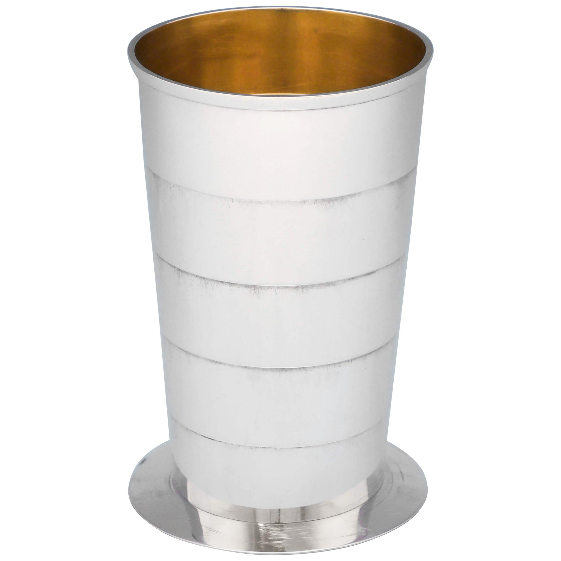 Antique Collapsible Sterling Silver Beaker by George Unite, Birmingham, 1913