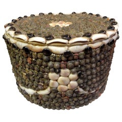 Antique Collar Box Made of Seashells
