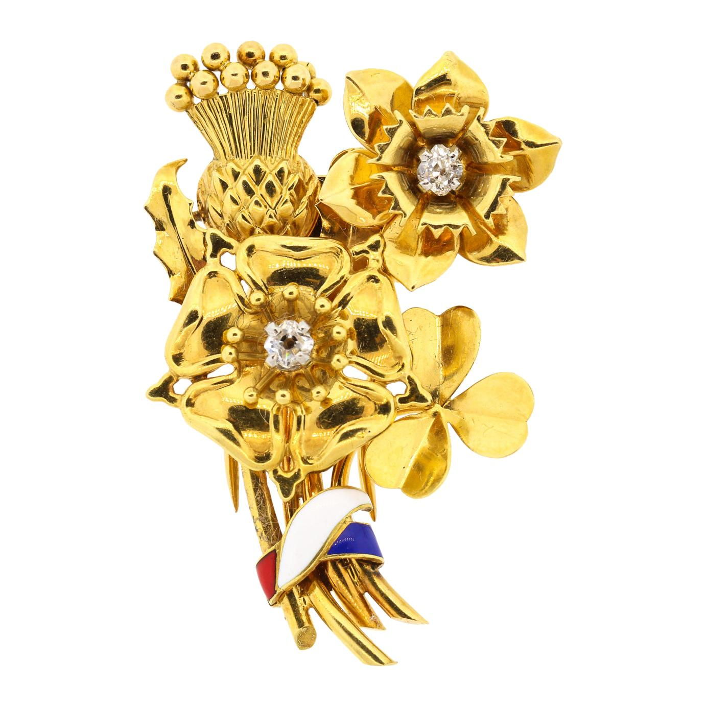 George V Brooches