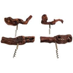 Antique Collection of 4 Laurent Siret, France French Burlwood Corkscrews