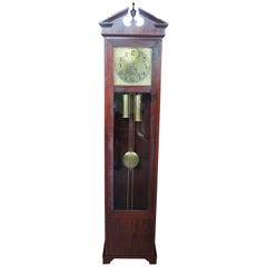 Antique Colonial Mfg Co Empire Style Mahogany Grandfather Clock German Movement