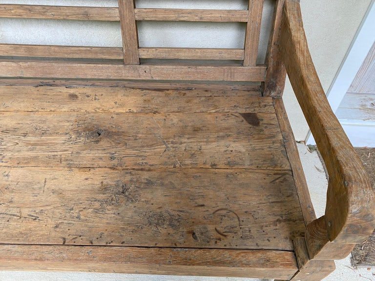 Dutch Colonial Antique Colonial Teak Wood Daybed Bench For Sale