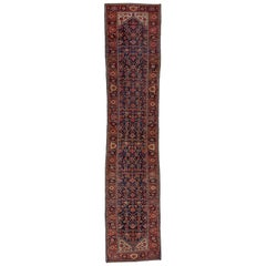 Antique Colorful Persian Malayer Long Runner, Excellent Condition