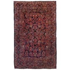 Antique Colorful Persian Sarouk Carpet, All-Over Field, circa 1940s