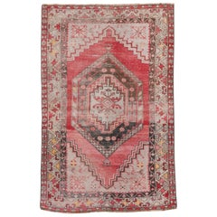 Antique Colorful Turkish Oushak Rug, circa 1920s