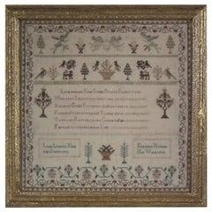 Antique Commemorative Sampler, 1793, by Elizabeth Holden