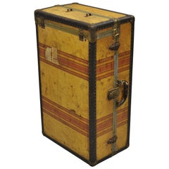 Antique Compact Wardrobe Steamer Trunk Travel Hard Luggage Suitcase Chest