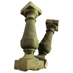 Antique Composition Balustrade or Sundial Base, 20th Century