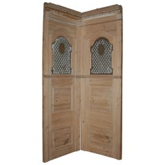 Antique Confessional Made of Fir Wood, Early 19th Century