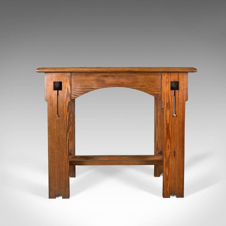 Antique Console Table English Arts And Crafts Victorian Pine