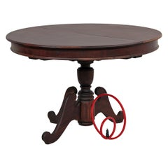 Antique Contemporary Brazilian Wooden Rounded Table, Restauro #1