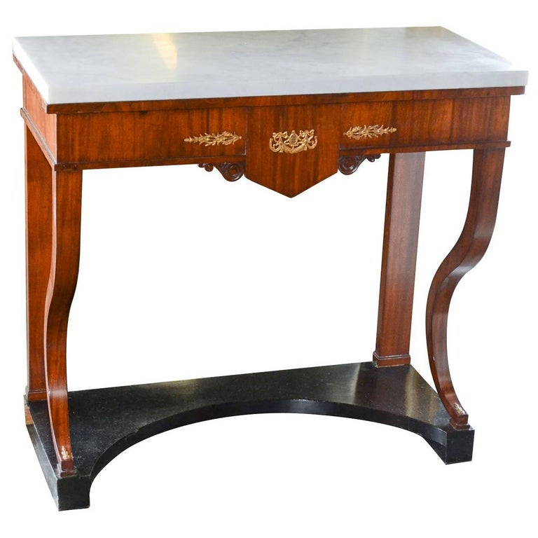 Antique Continental Mahogany Console Table
