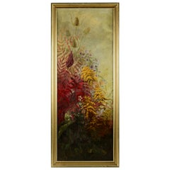 Antique Continental Oil on Canvas Floral Still Life Painting, 19th Century