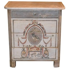 Antique Continental Painted Chest