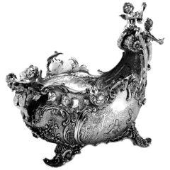Antique Continental Silver Centrepiece / Bowl 1899 English Import Mark